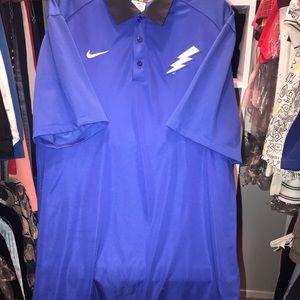 Nike Men's Dark Blue Dri-FIT Short Sleeve Polo